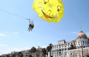 Parachute ascensionnel Nice evg evjf insolite
